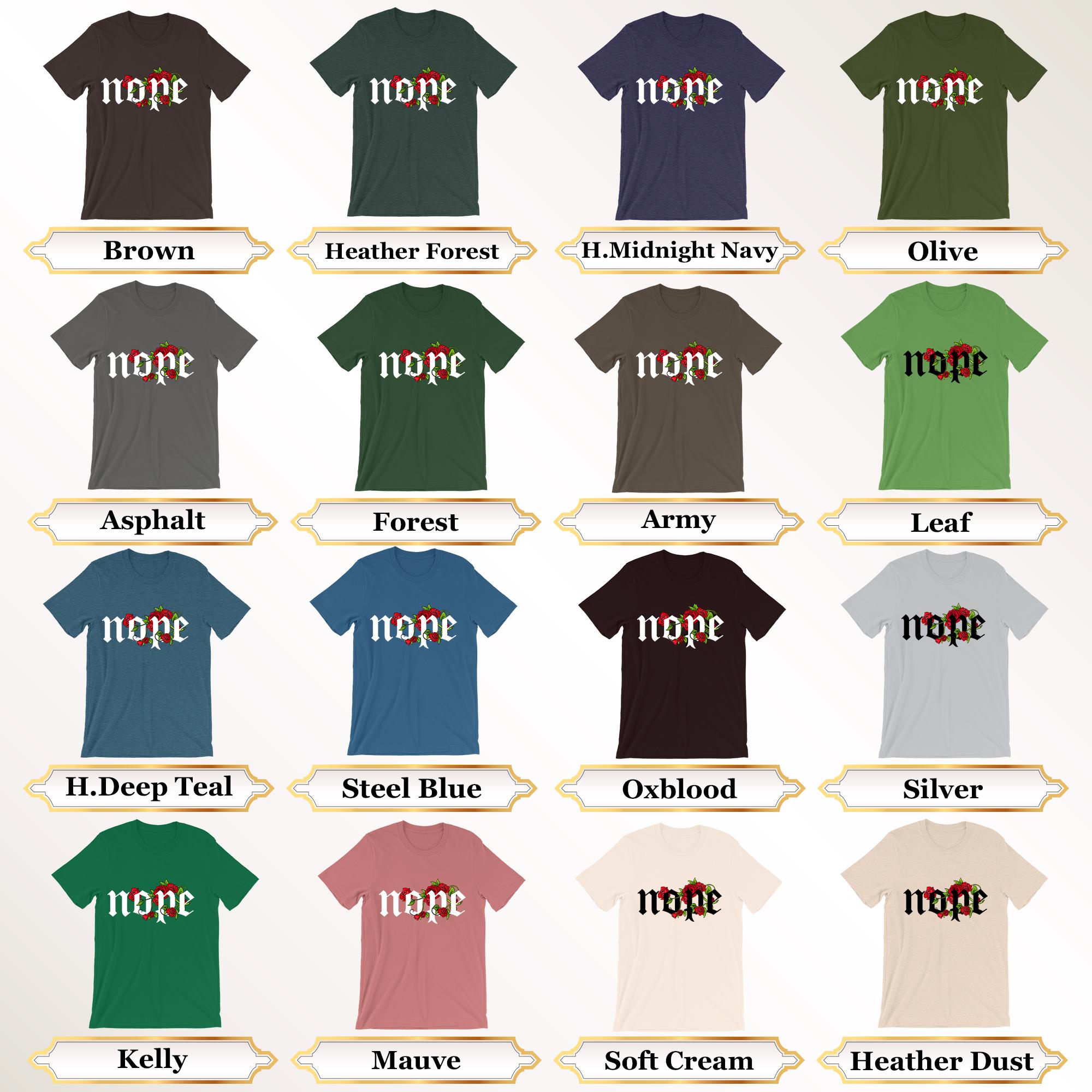 Nope Shirt, Attitude Shirt, Funny Shirt, Nope Tshirt