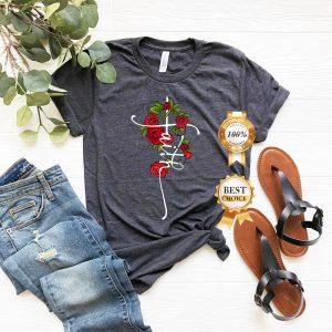 Faith T Shirt Tank Tops Kids T-Shirt Sweatshirt Hoodie Faith Vertical Cross Shirt Faith T-shirt Jesus Christian Cross Shirt Christian Gift