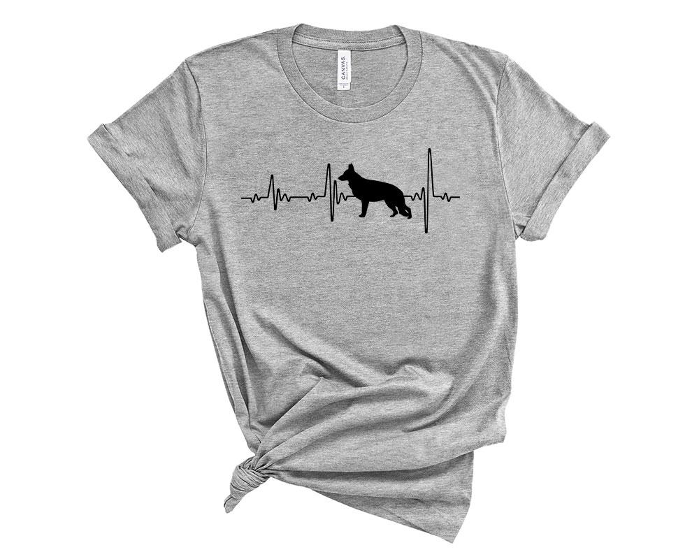 Athletic Heather German Shepherd Shirt