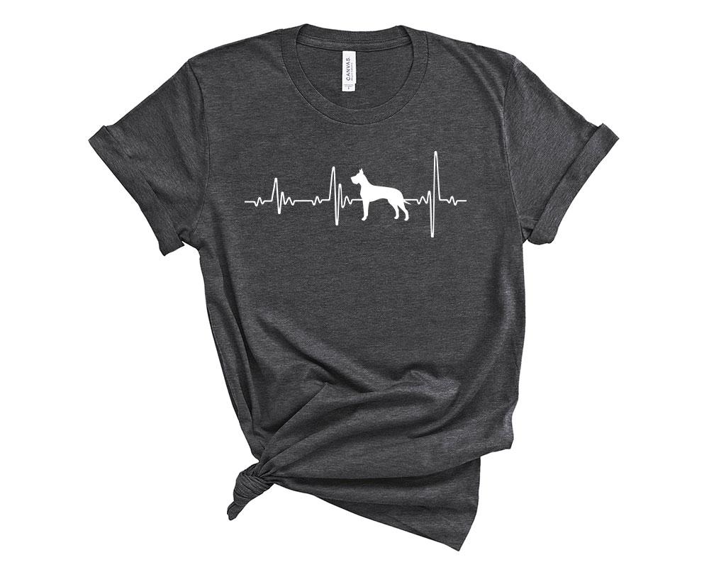 Dark Grey Heather Great Dane Shirt