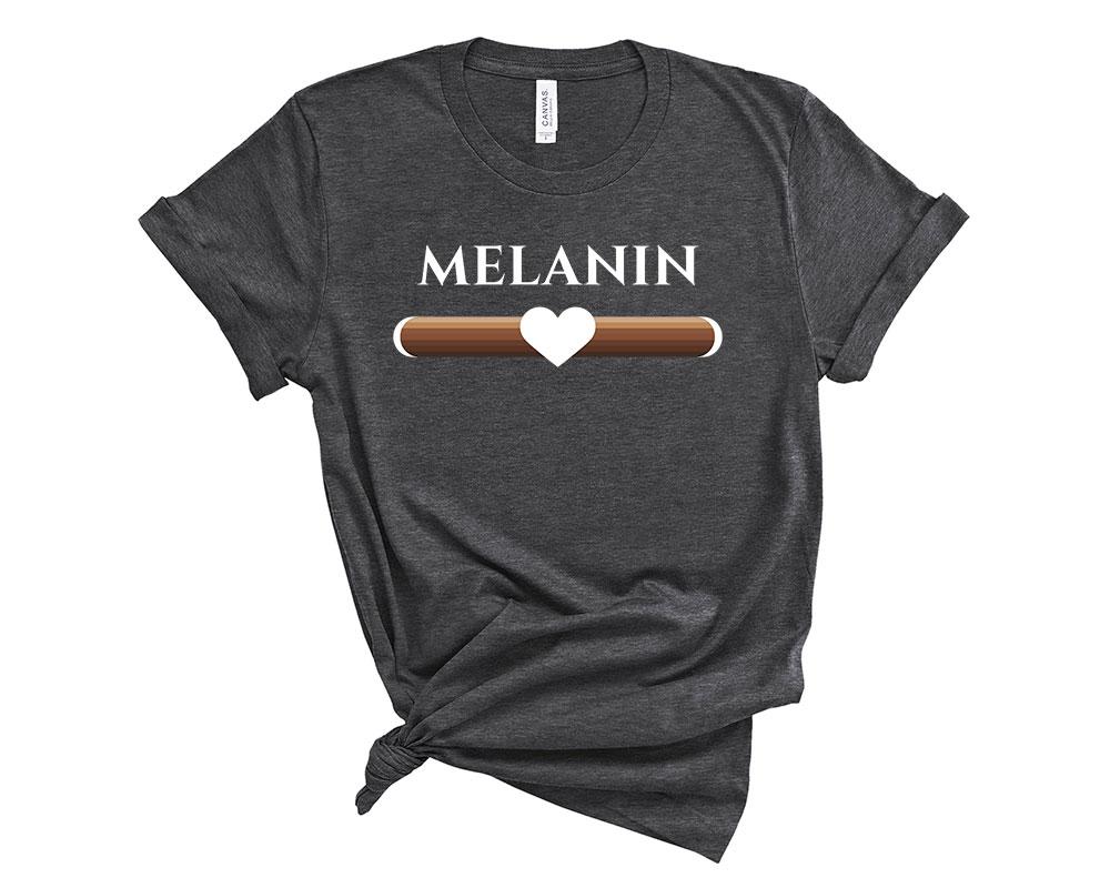 Dark Grey Heather Melanin Shirt