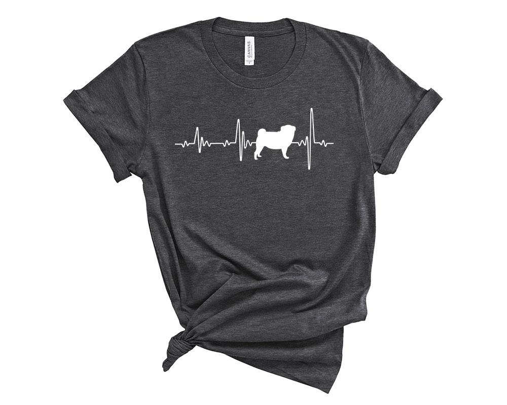 Dark Grey Heather Pug Shirt