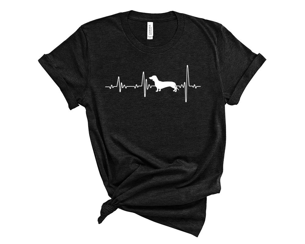 Heather Black Dachshund Shirt