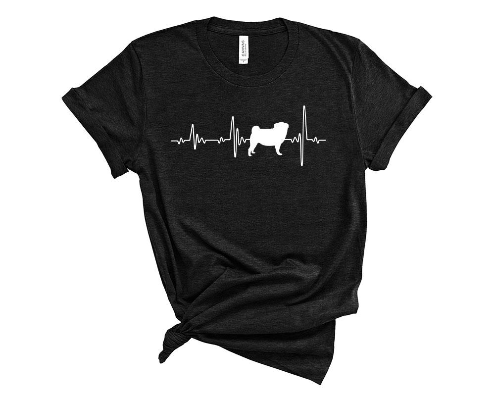 Heather Black Pug Shirt