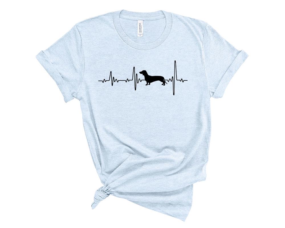 Heather Blue Dachshund Shirt