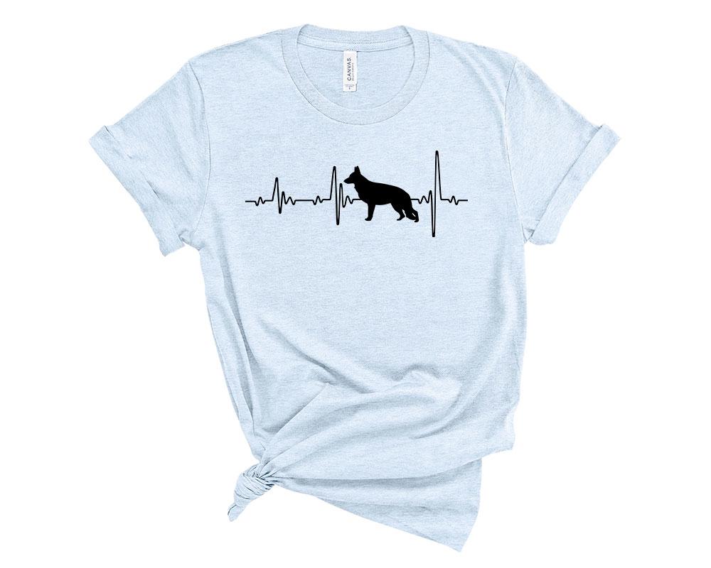 Heather Blue German Shepherd Shirt