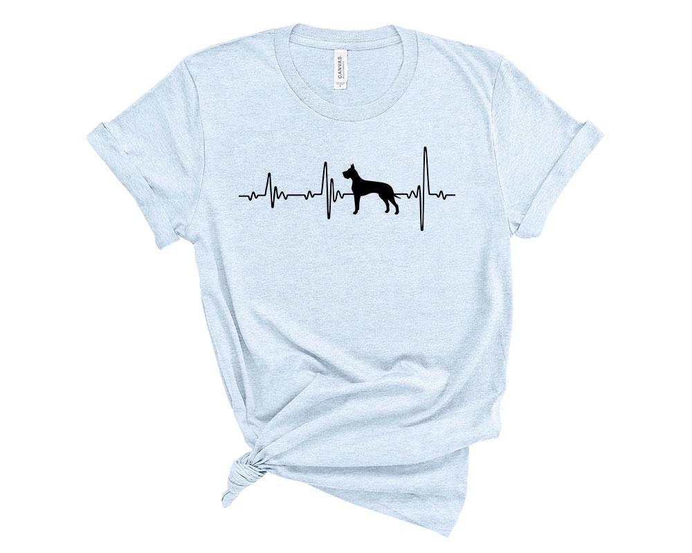 Heather Blue Great Dane Shirt