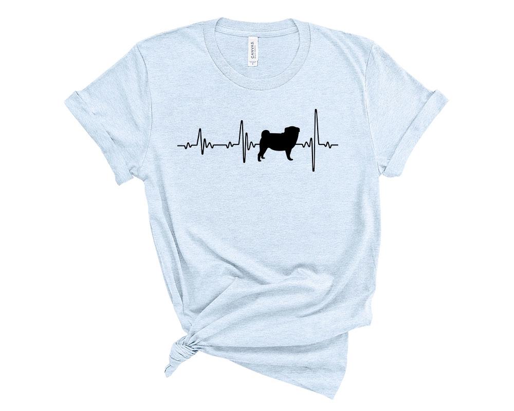 Heather Blue Pug Shirt