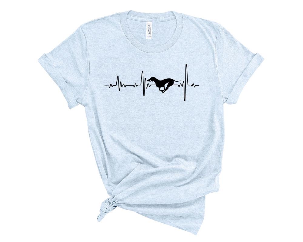 Heather Blue Whippet Shirt