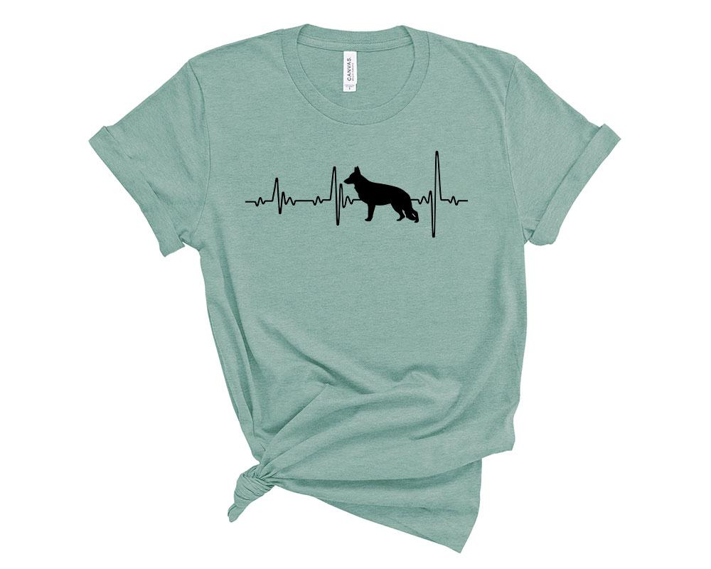 Heather Dusty Blue German Shepherd Shirt