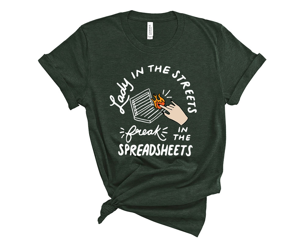 Heather Forest Accountant Accounting Shirt