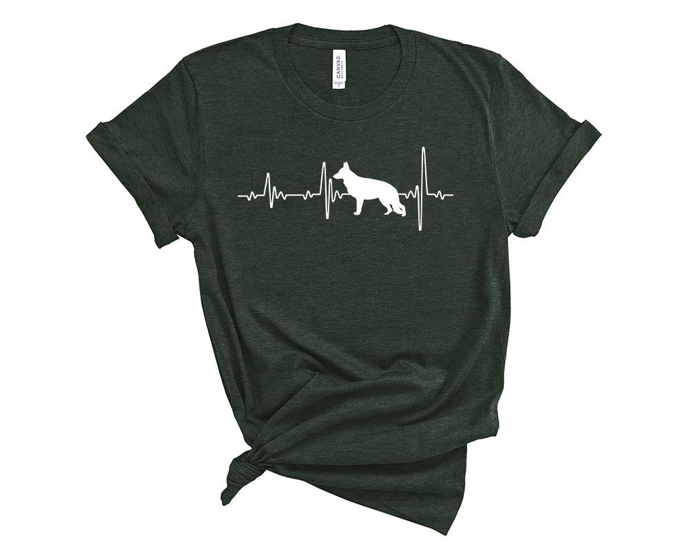 Heather Forest German Shepherd Shirt