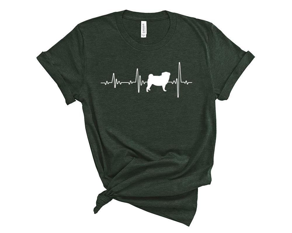 Heather Forest Pug Shirt