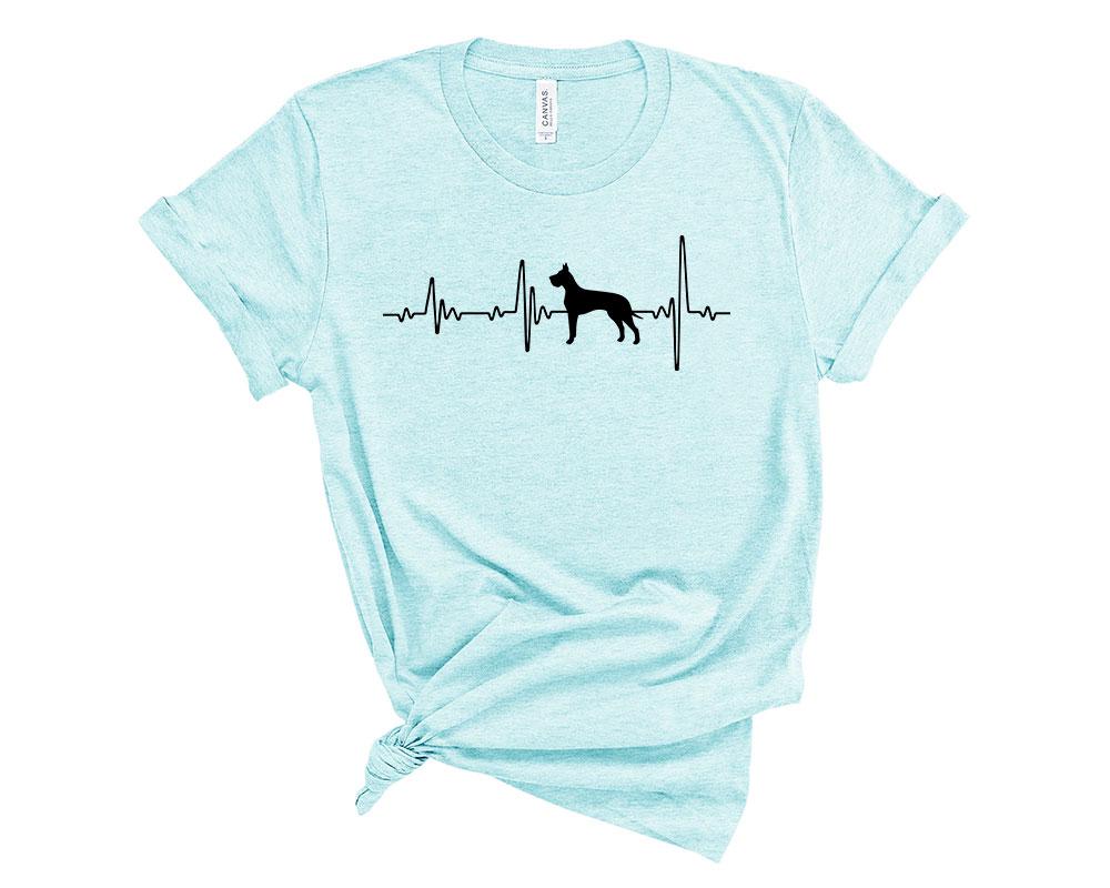 Heather Ice Blue Great Dane Shirt