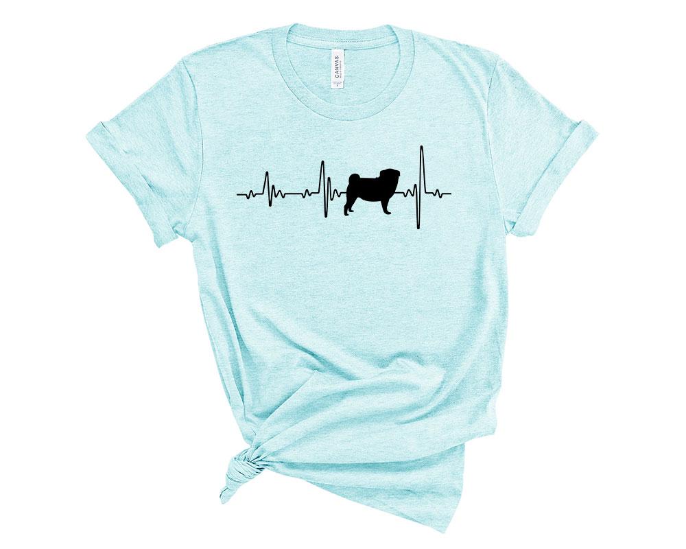 Heather Ice Blue Pug Shirt