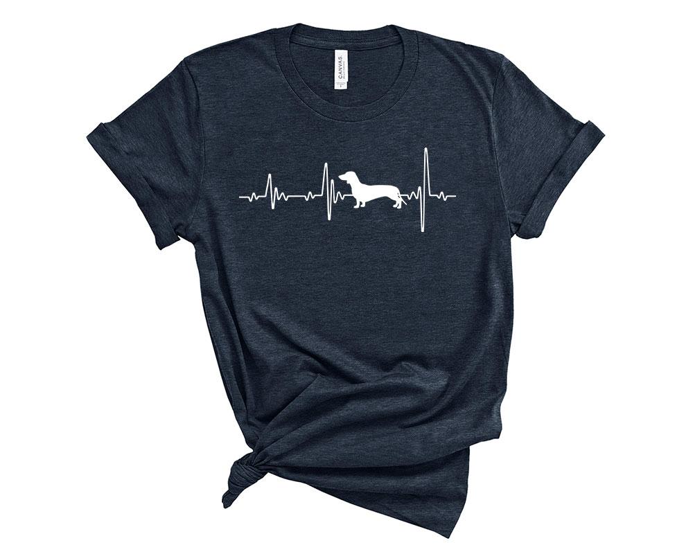 Heather Midnight Navy Dachshund Shirt