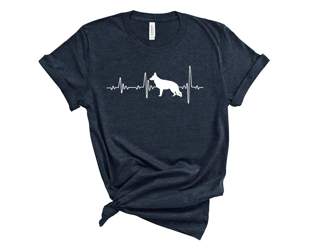 Heather Midnight Navy German Shepherd Shirt