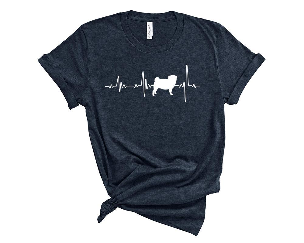 Heather Midnight Navy Pug Shirt