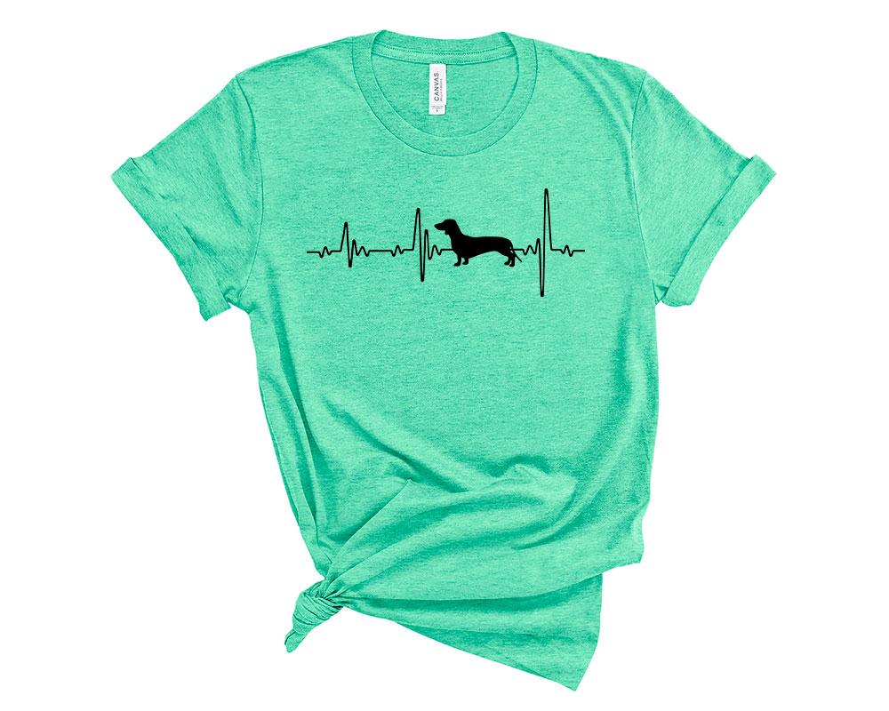 Heather Mint Dachshund Shirt