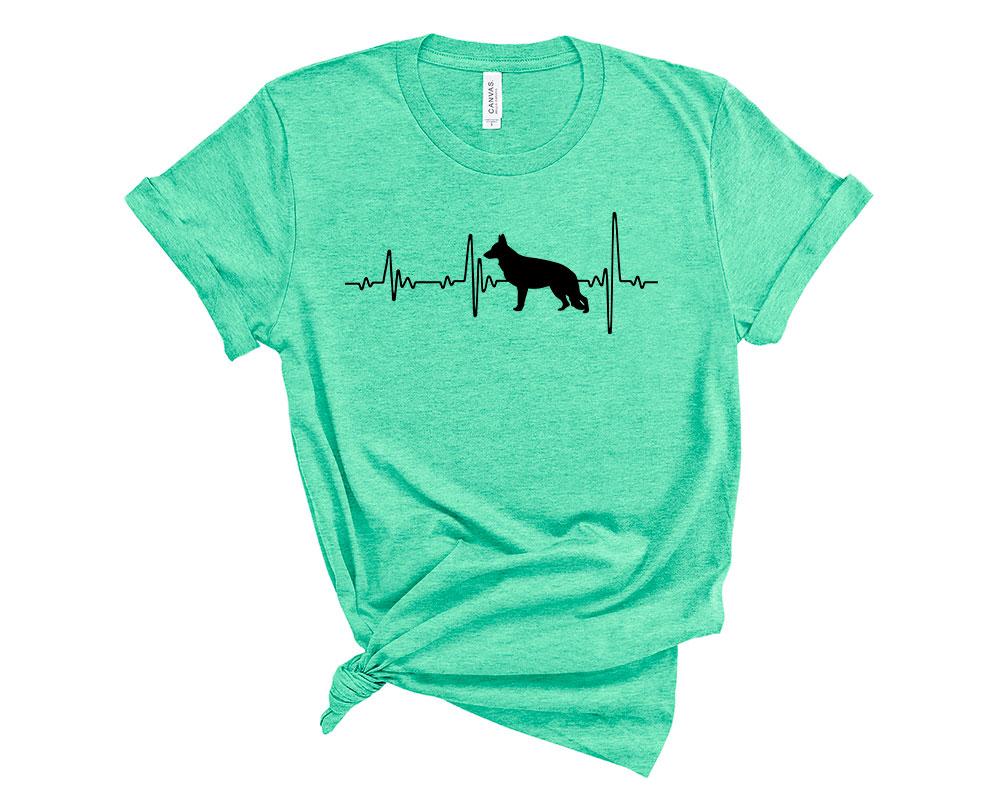 Heather Mint German Shepherd Shirt