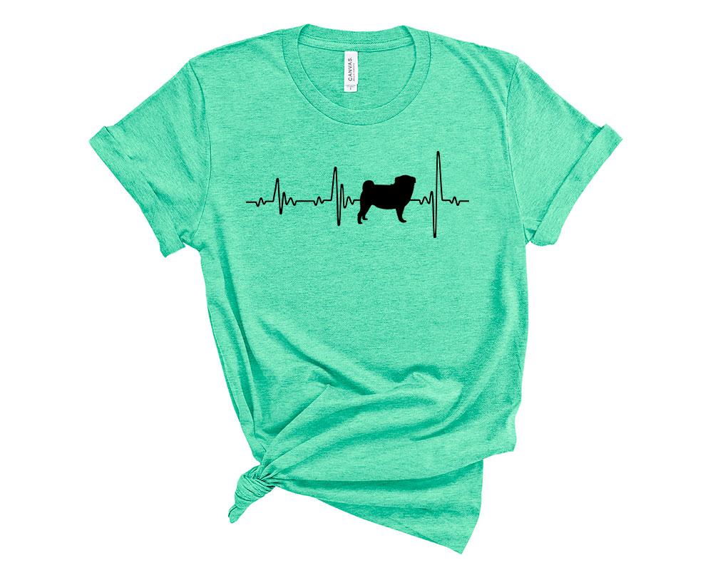 Heather Mint Pug Shirt