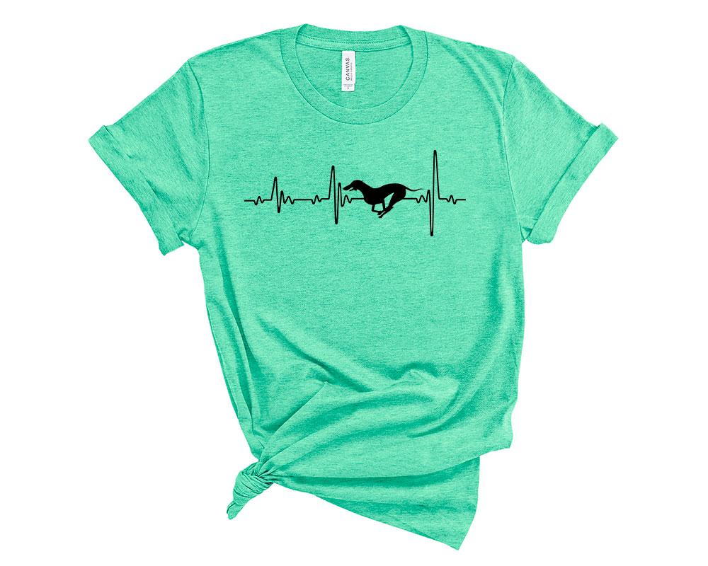 Heather Mint Whippet Shirt
