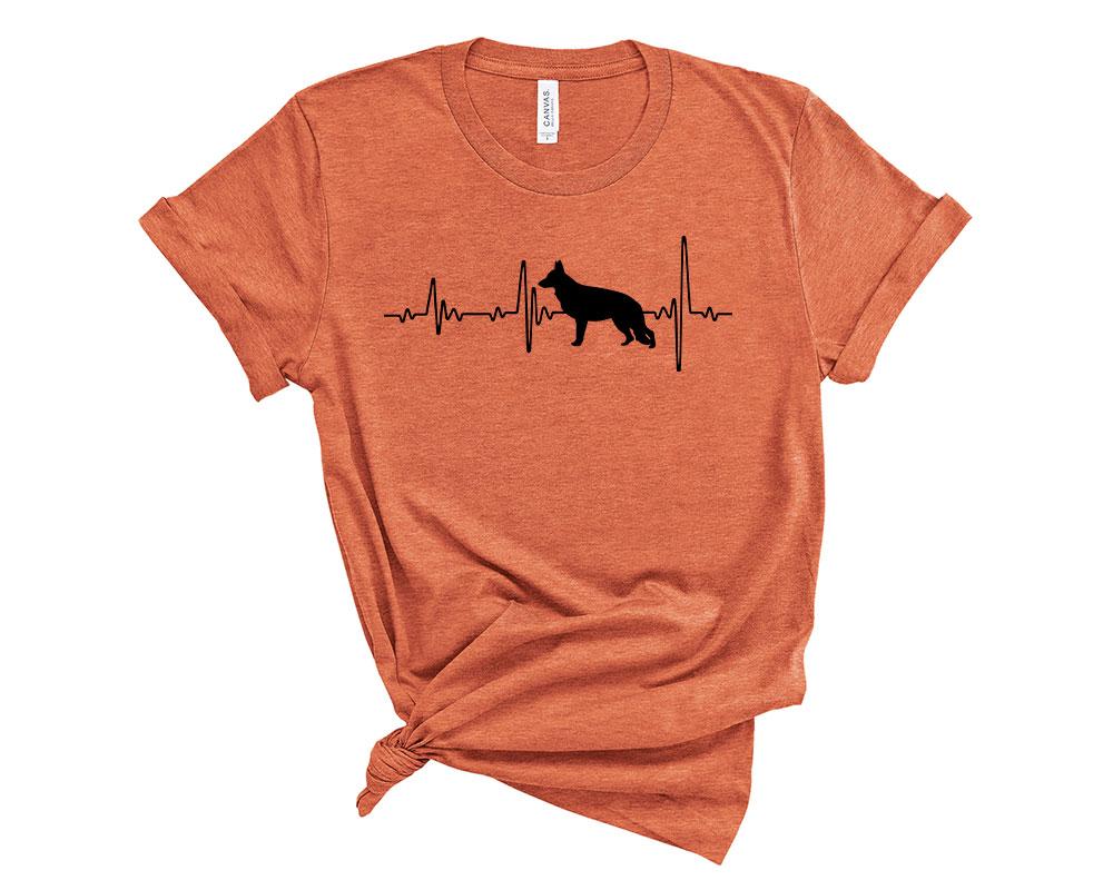 Heather Orange German Shepherd Shirt