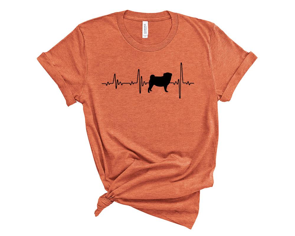 Heather Orange Pug Shirt