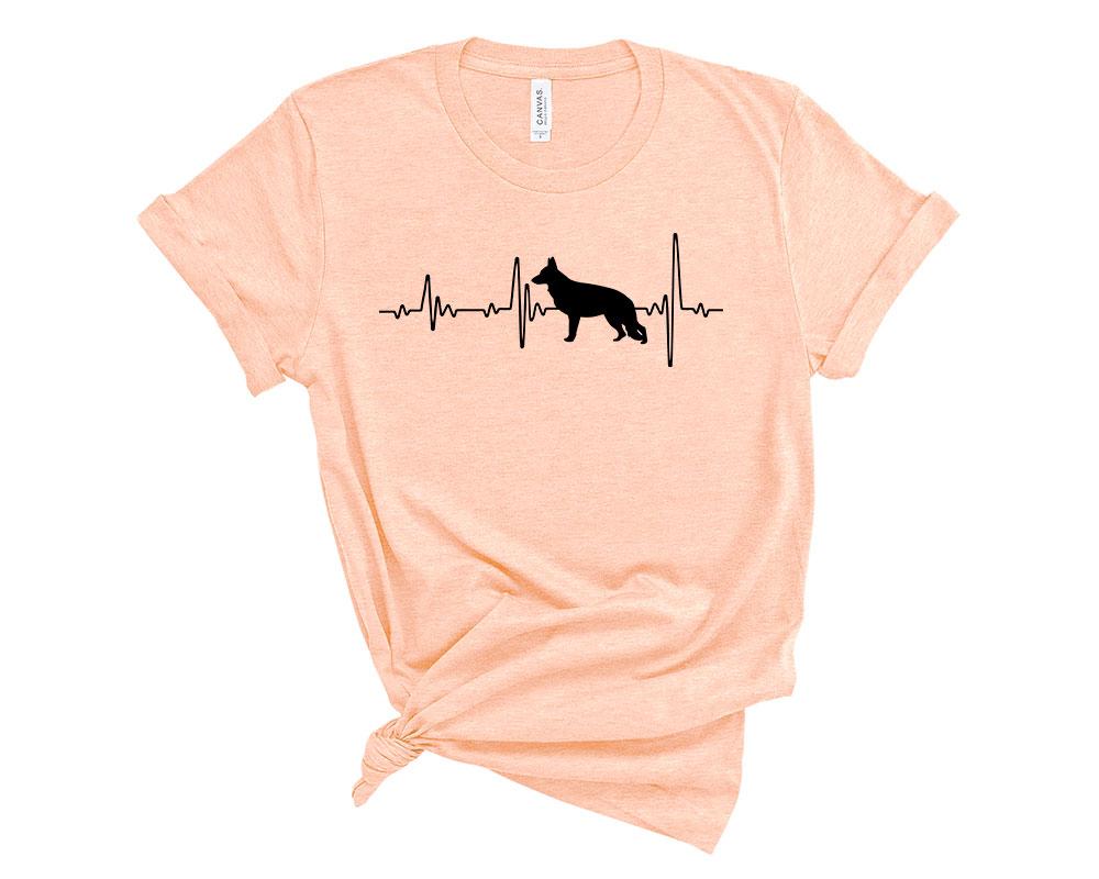 Heather Peach German Shepherd Shirt