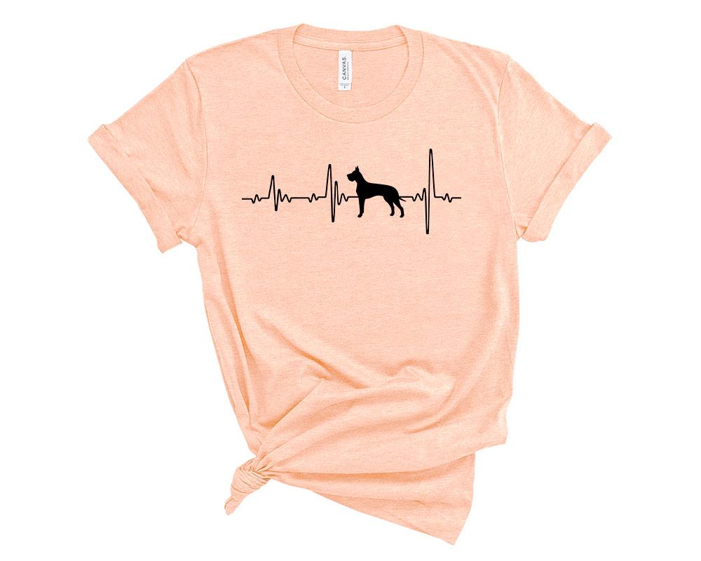 Heather Peach Great Dane Shirt