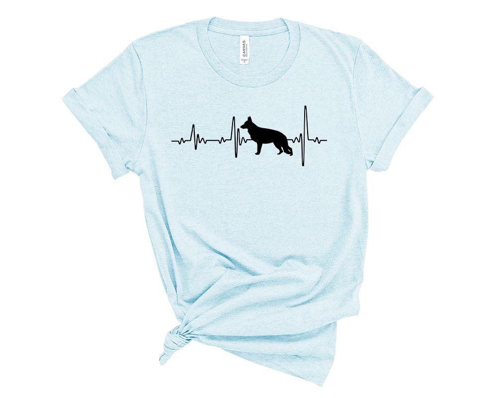 Heather Prism Ice Blue German Shepherd Shirt