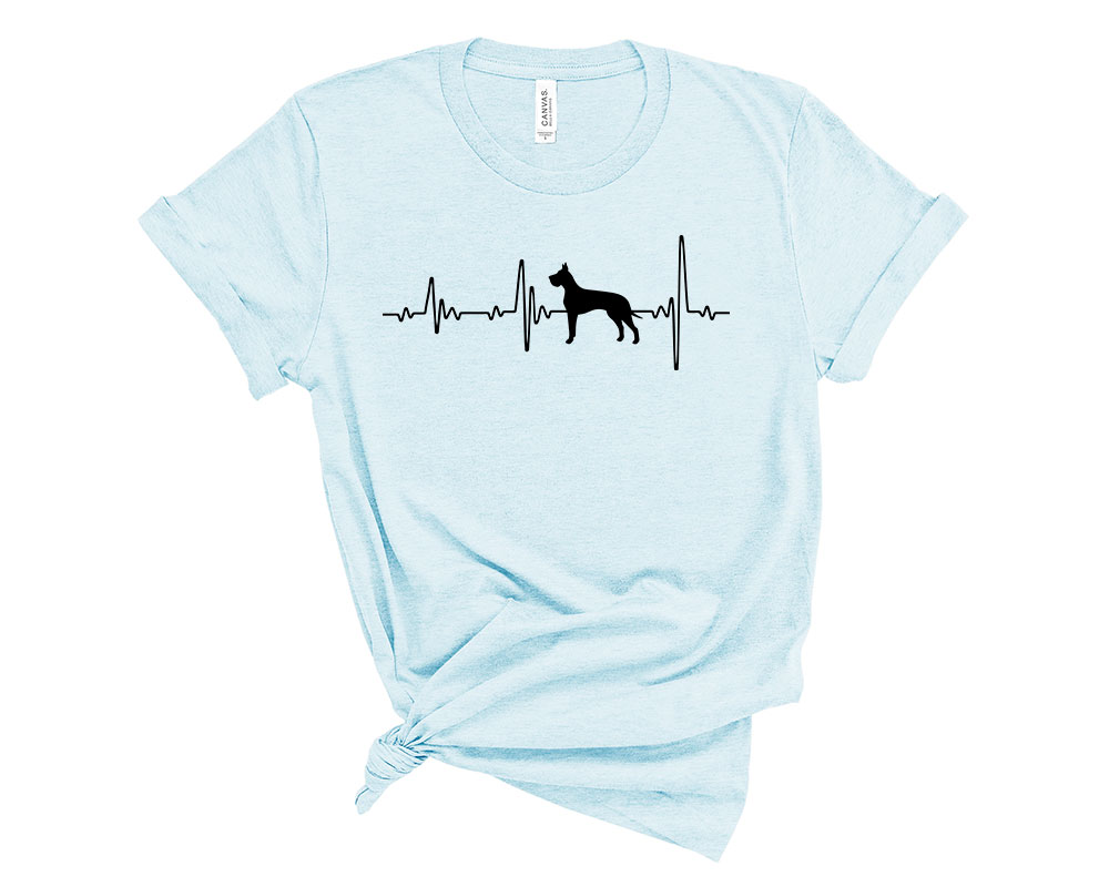 Heather Prism Ice Blue Great Dane Shirt