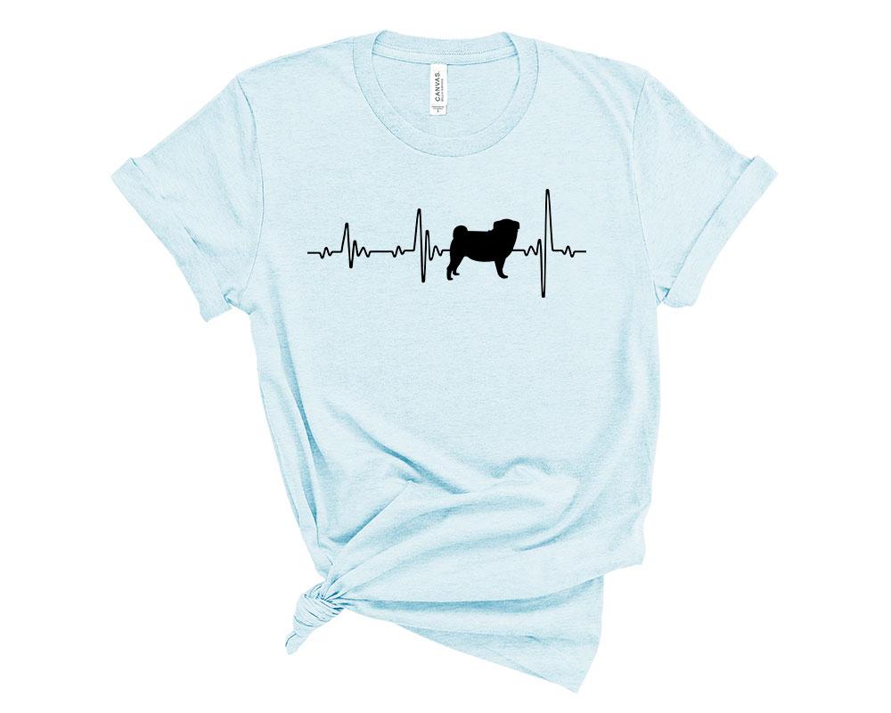 Heather Prism Ice Blue Pug Shirt