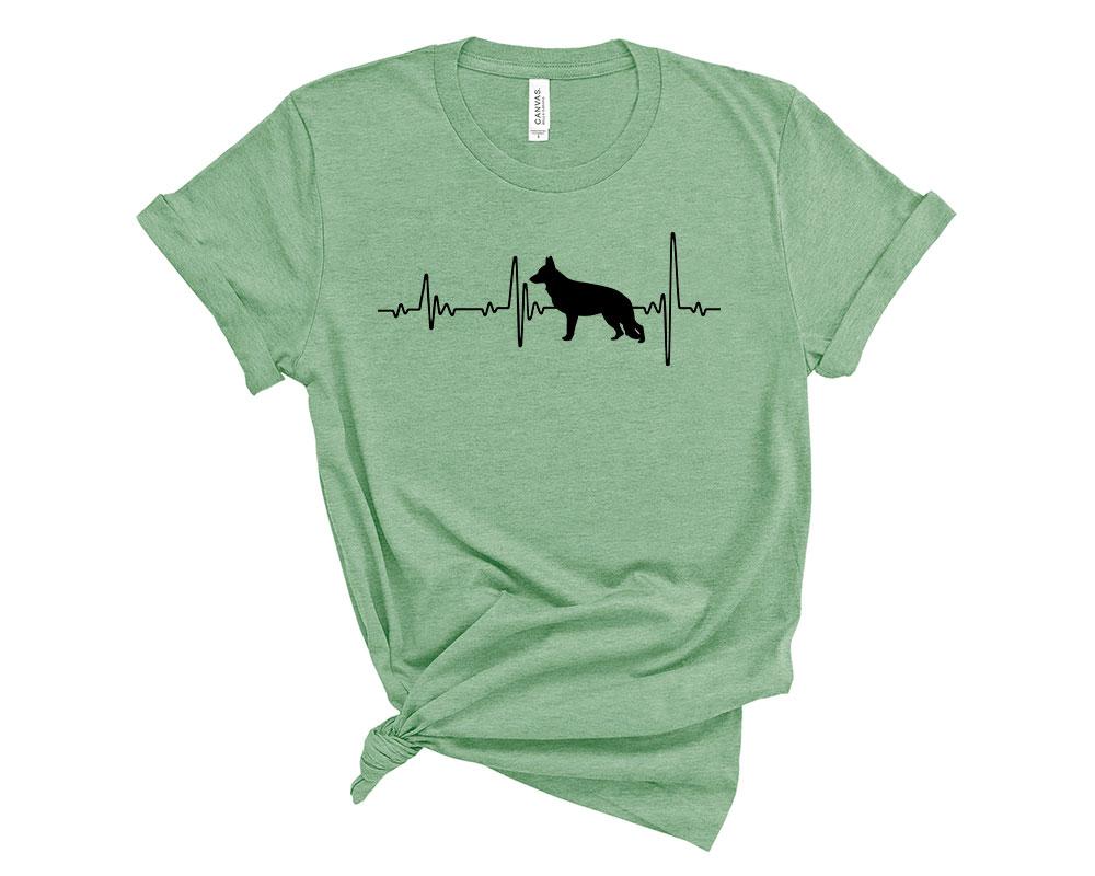 Heather Prism Mint German Shepherd Shirt