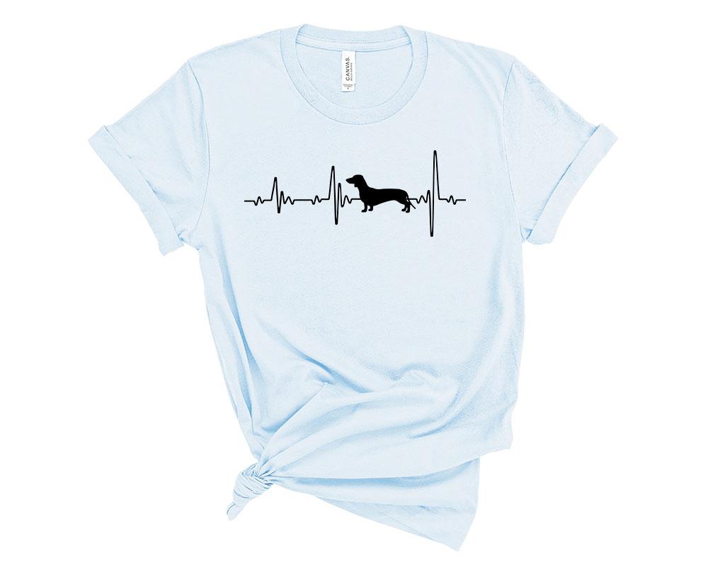 Light Blue Dachshund Shirt