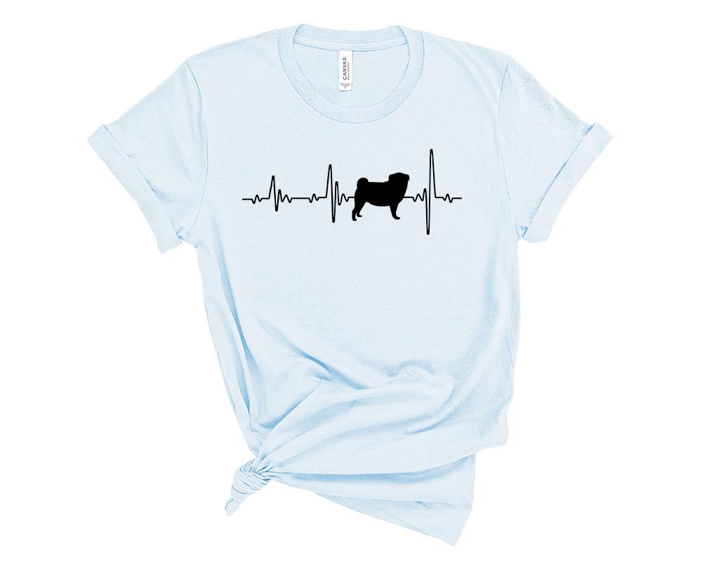 Light Blue Pug Shirt