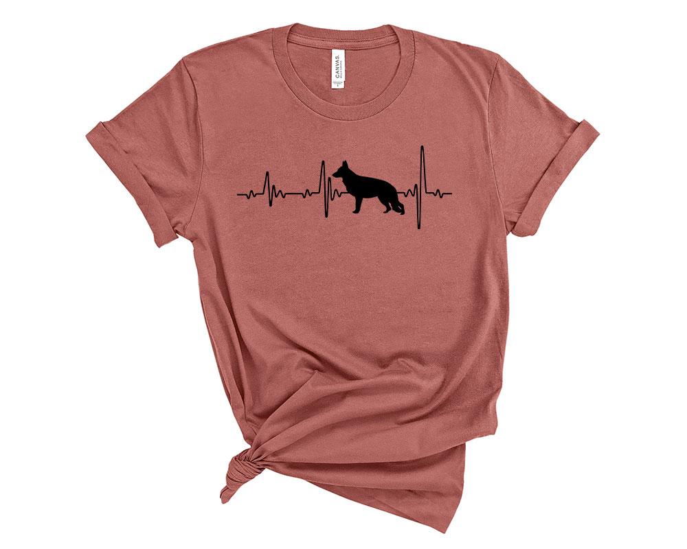Mauve German Shepherd Shirt