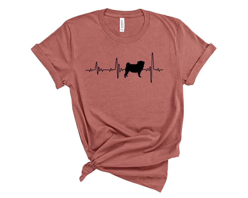 Mauve Pug Shirt