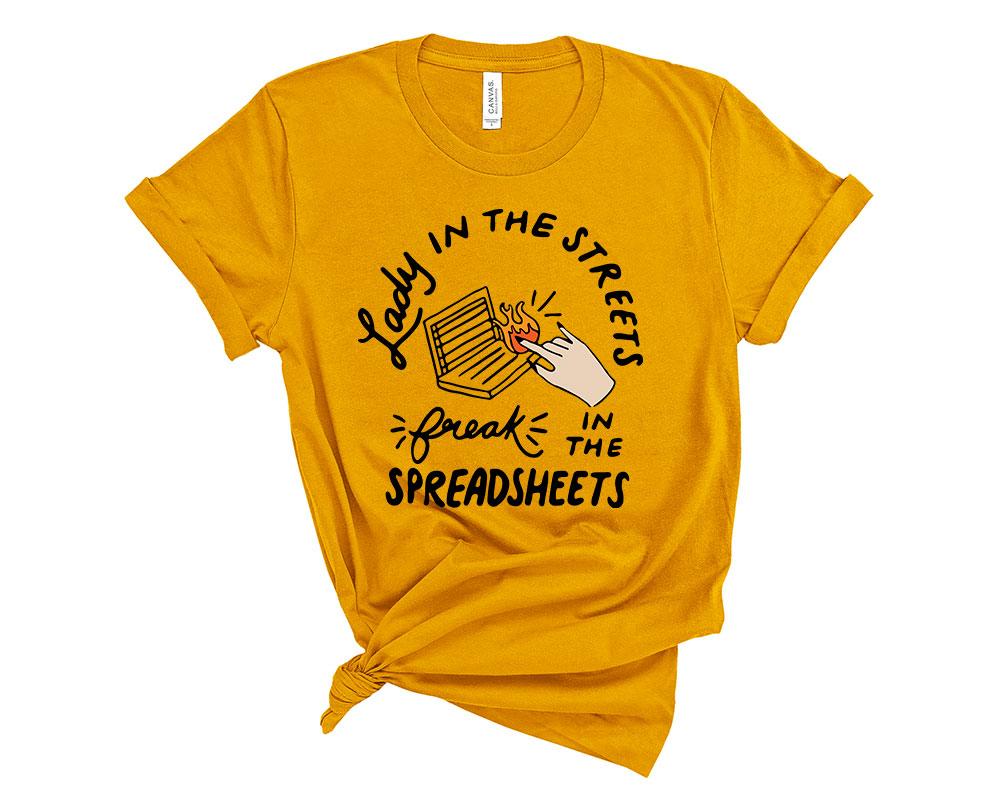 Mustard Accountant Accounting Shirt