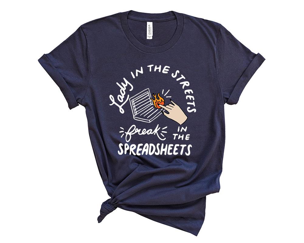 Navy Accountant Accounting Shirt