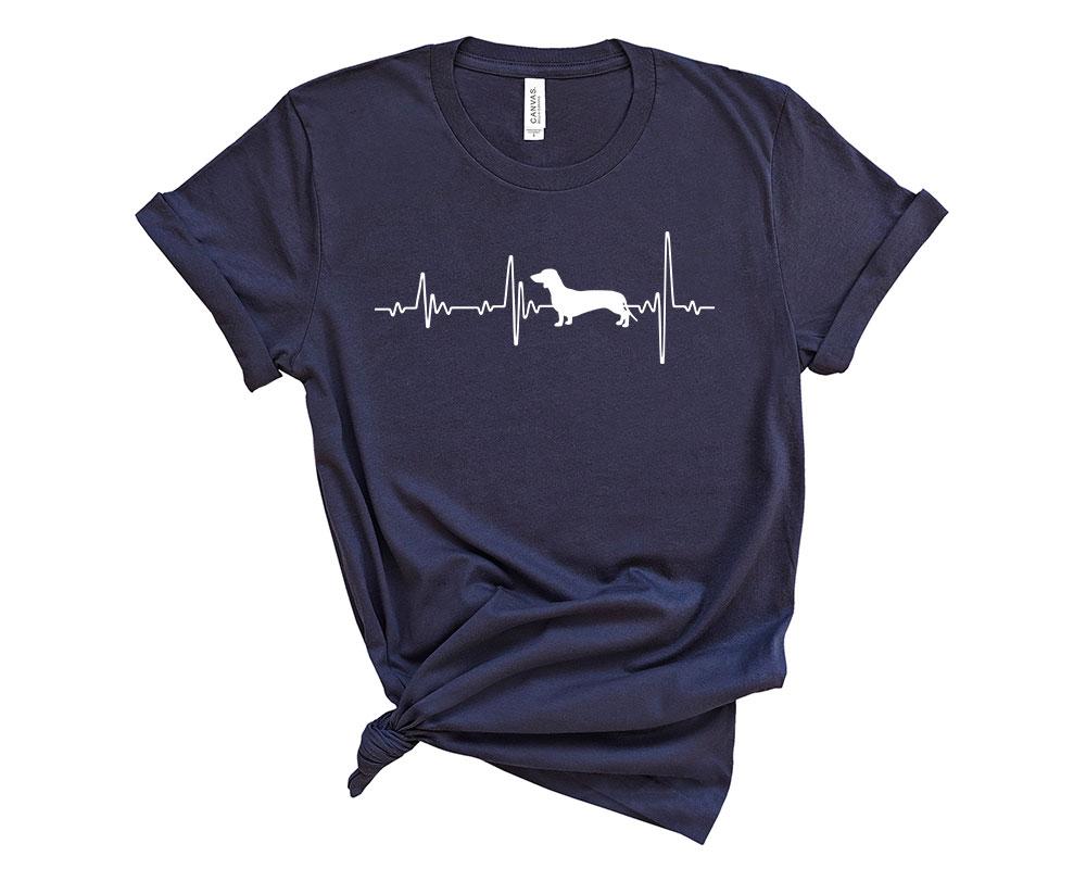 Navy Dachshund Shirt