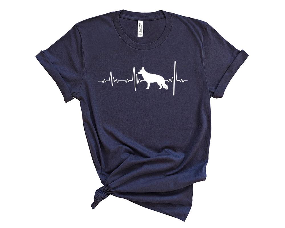 Navy German Shepherd Shirt