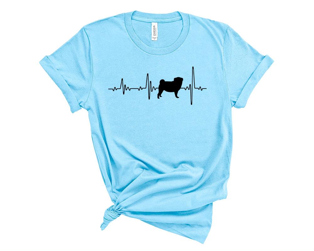Ocean Blue Pug Shirt