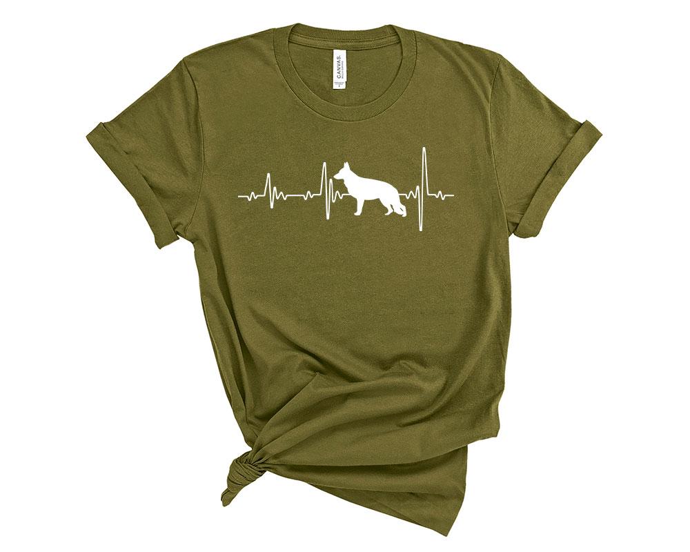 Olive German Shepherd Shirt