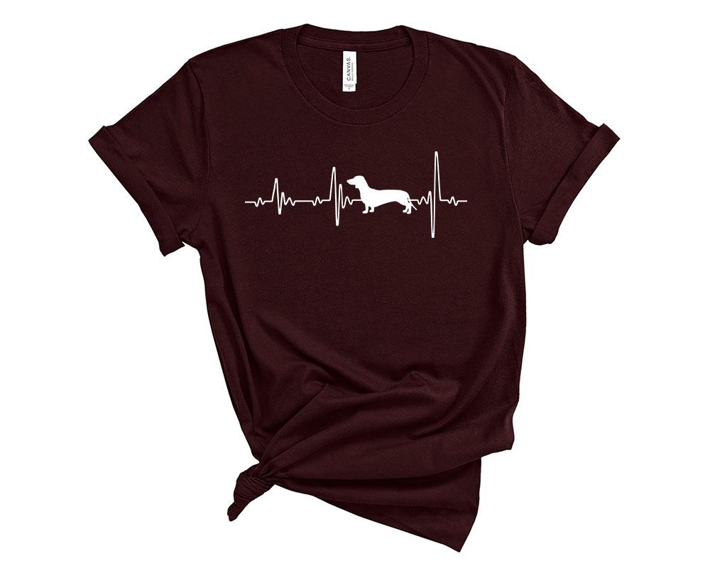 Oxblood Black Dachshund Shirt