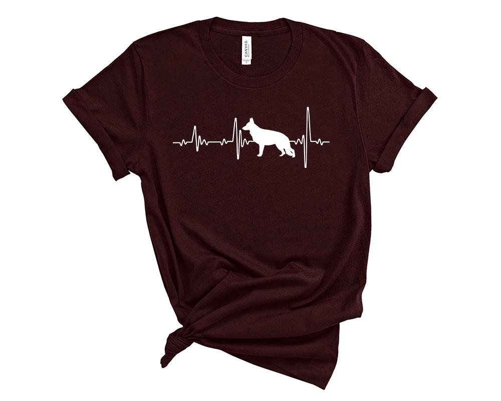 Oxblood Black German Shepherd Shirt