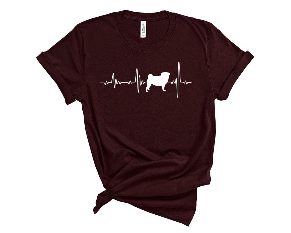 Oxblood Black Pug Shirt