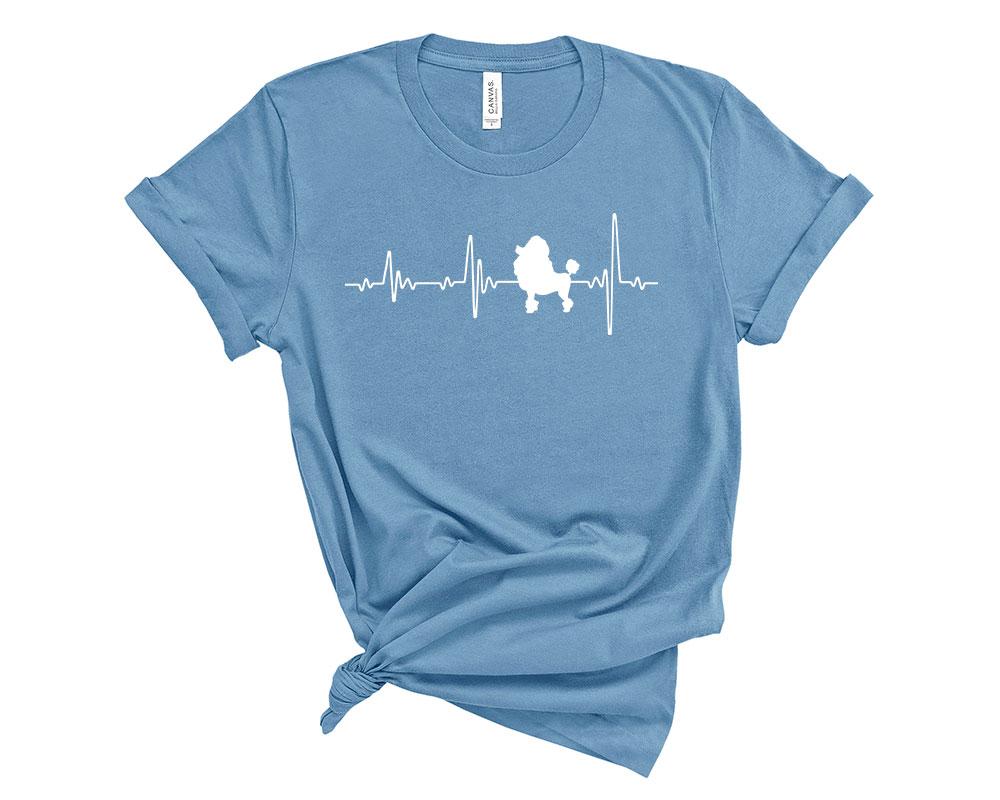 Steel Blue Poodle Shirt