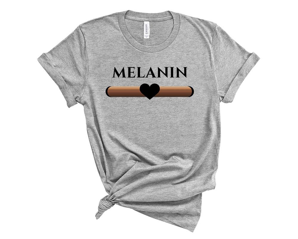 athletic heather Melanin Shirt