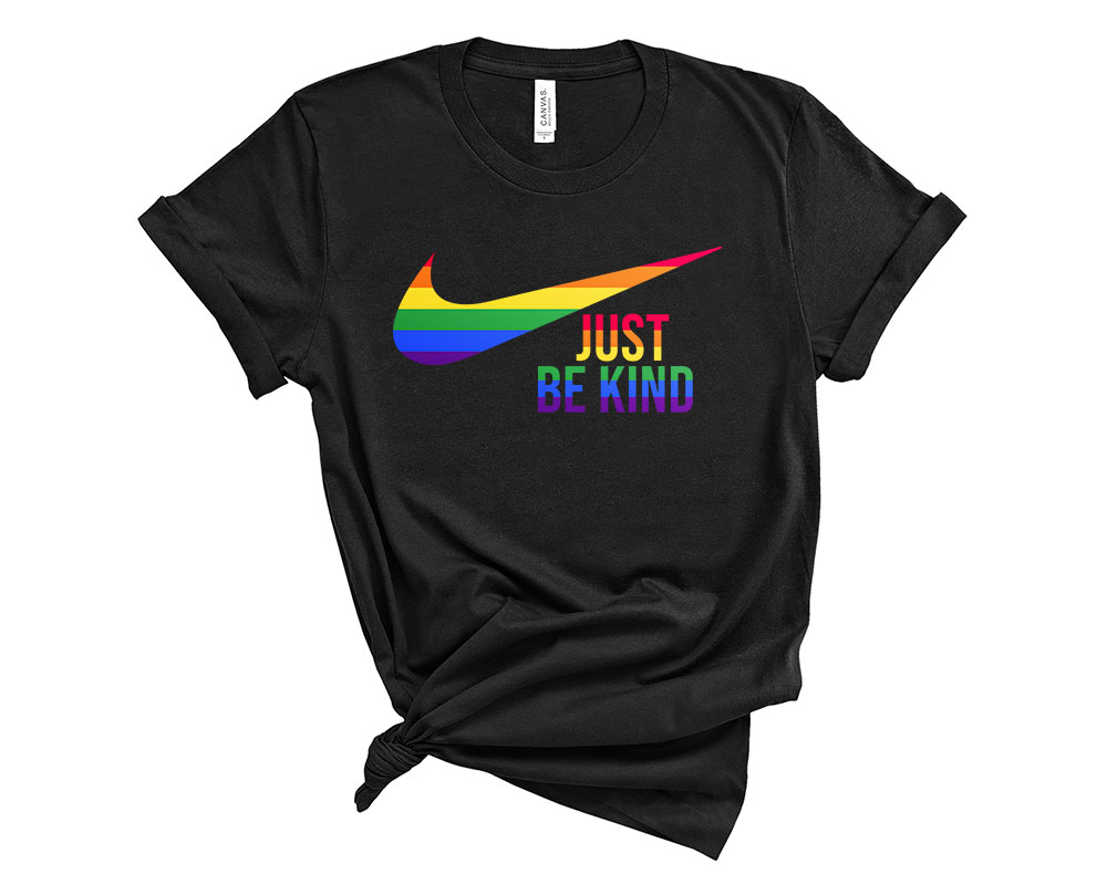 black LGBT Just Be Kind Shirt